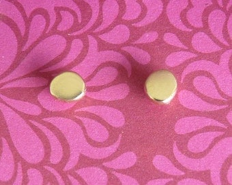 Gold Stud Earrings with a Dot - 14k Gold Studs - Tiny Stud Earrings | Handcrafted Jewelry