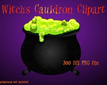 Halloween Clipart, Witch Cauldron Clipart, Halloween Graphics