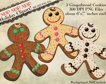 Gingerbread Cookie Clipart, Gingerbread Man, Christmas Clipart, Cookie Clipart