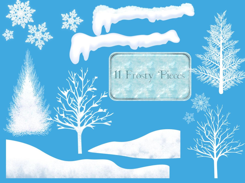 Winter Clipart, Winter Wonderland Clip Art, Christmas
