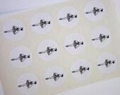 Ballerina Ballet Dancer Stickers One Inch Round Seals