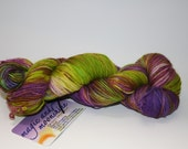 merino nylon sock yarn, 400 yds--waxing poetic--crocus blossums