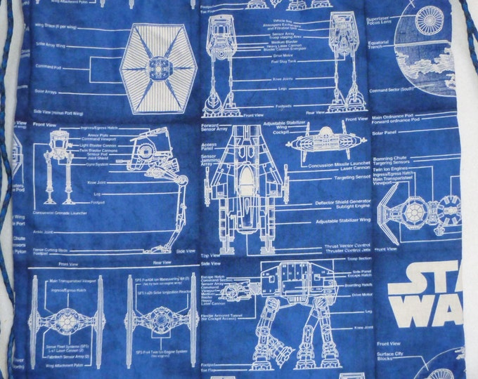 Star Wars Blue Prints:Backpack or zipper topped tote