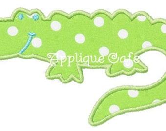 335 Gator Machine Embroidery Applique Design