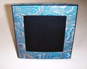 Italian Marbled paper square frame. Hand crafted Florentine style -  SIZE: 5.26
