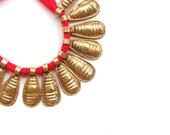 5 x Ethiopian coptic beads bugs beads  tribal beads metal spacer  metal beads african beads