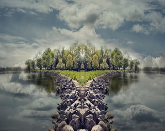 MANU-ISLAND LUSCIOUS Original Landscape Nature Art  Abstract Photograph