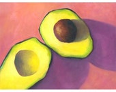 Art print of creamy avocado Afternoon Candy - still life Home Decor Wall Art / reproduction of oil painting / food art Guacomole