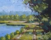Egan's Creek Greenway IV - Original Oil Painting