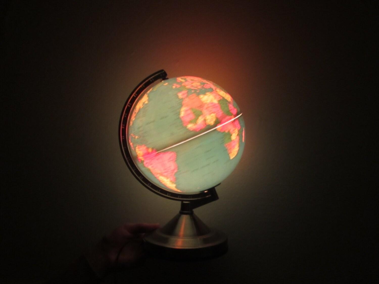 Glow In The Dark Globe World Map Night Light