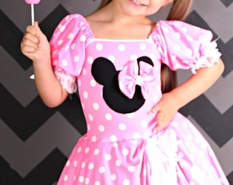 Minnie Mouse inspired costume Pink tutu dress size 3t Halloween Costume