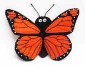 Butterfly, monarch butterfly, butterfly finger puppet, felt finger puppet