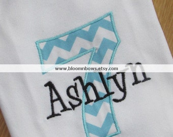 Chevron  Birthday Number Personalized Shirt