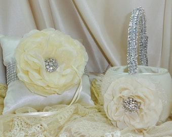 Choose from Pillow, Basket, Guestbook and Pen in Ivory or White