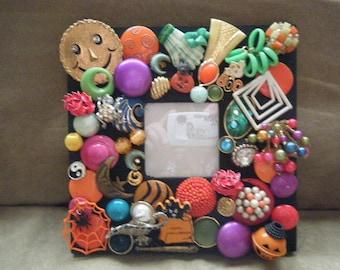 Halloween Frame Bejeweled Whimsical
