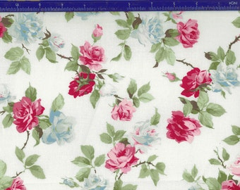 Yuwa Roses on White AF666014A Cotton Fabric
