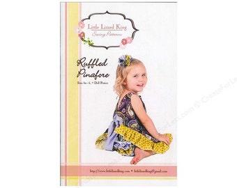Ruffled Pinafore Pattern  Sizes 3M to 6 plus doll pattern Little Lizard King