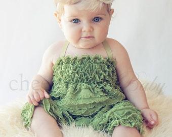 Ruffle Romper FERN - by Cheeky Chic Baby