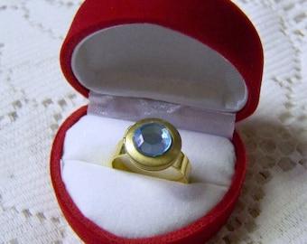 Locket Ring - Poison - Solid Perfume - Hidden Treasures Ring - Blue - Adjustable ring locket