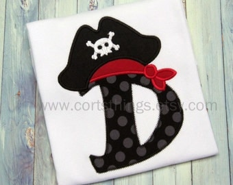 Personalized Initial Pirate Shirt