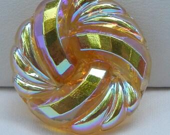Knot Czech Glass Button