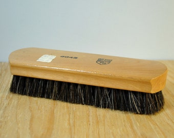 Vintage shoe polish brush 1960 horsehair and wood Army Air Force exchange mint condition shoe polishing brush