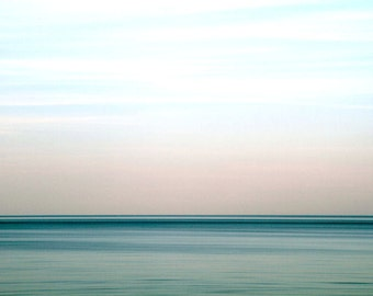 Ocean, Nautical Summer Blue, Tropical Decor, Water, Abstract Seascape, Pastel, Beach Decor, 11X14 Mat, Fine Art Photography, Ready to Frame