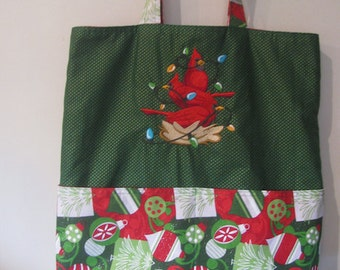 Christmas Cardinals Stack Eco Friendly Tote - Shopping Bag