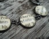 Sherlock Holmes Bracelet, Literary Jewellery, Fandom, Holmes Watson, Book Gift