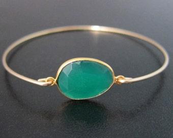 Onyx Bracelet, Green Stone Bracelet, Onyx Jewelry, Green Jewelry, Stone Jewelry, Green Bracelet, Green Onyx Bangle, Gemstone Bracelet