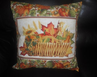 SALE - Atumn Harvest FOUR  -  Twenty Inch  Throw Pillow Cover Only