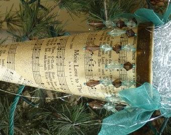 Vintage Victorian  Christmas Cone Ornament