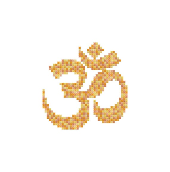 Om symbol cross stitch pattern pdf digital download from Om symbol images download
