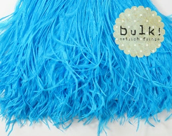 TURQUOISE - BULK - Vogue Ostrich Thrill - Feather Trim - Ostrich Trim - Wholesale Feathers