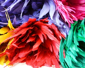 25-30pcs Rooster Tail Feathers-Multi color pack