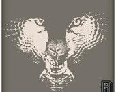 H.owl (Wolf Owl Illusion) Design on Premium Deep V Neck