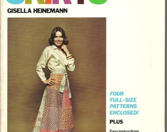 Skirt Book four full size patterns included all sizes unused 1978 116pg Book