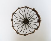 Wire Geometric Basket Rustic Industrial Decor