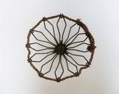 Wire Geometric Basket Rustic Industrial Decor