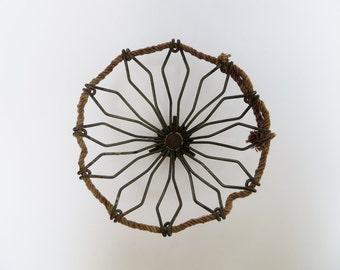 Wire Basket Industrial Decor