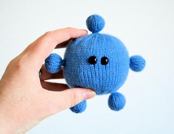 Knit your own Amigurumi Cold Virus rhinovirus pdf knitting