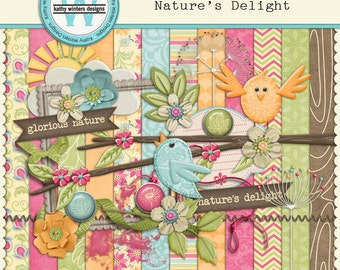 Digital Scrapbook Nature's Delight