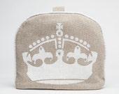 Tea Cozy / Cosy - Crown on Belgian Linen
