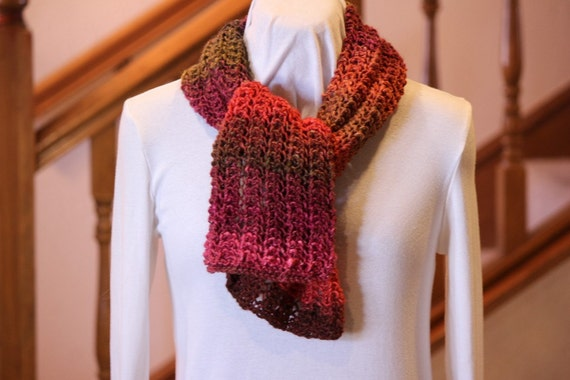Knitting Pattern Lace Infinity Scarf : Knitting Pattern Easy Lace Scarf or Infinity by ...