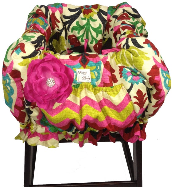 Fancy Floral Baby Shopping Cart Cover Restaurant High Chair