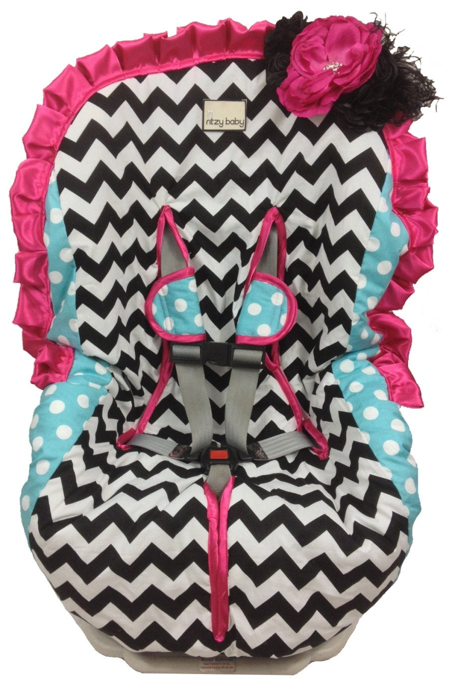 toddler car seat cover girly girl padded easy on easy off. Black Bedroom Furniture Sets. Home Design Ideas