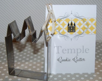 Temple Cookie Cutter - Temples Cookies - Wedding Favor - Bridal shower favor gift - YW in Excellence -  Salt Lake Temple cookie cutter