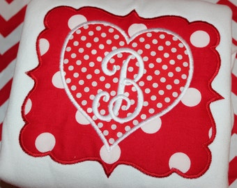 Valentine heart baby bodysuit, tshirt, or dress- you pick fabrics