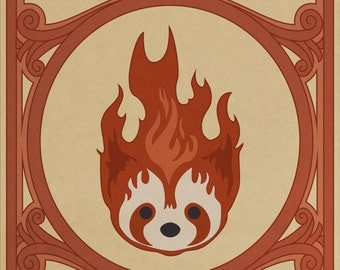 Fire Ferrets Pro Bending Poster -- Legend of Korra