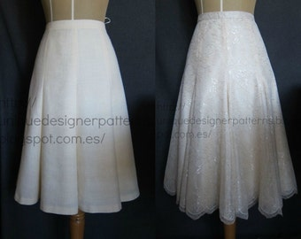 Eight gore Skirt.-
